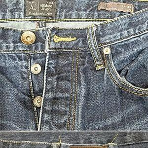 Armani button fly jeans 33 x 34 straight leg.